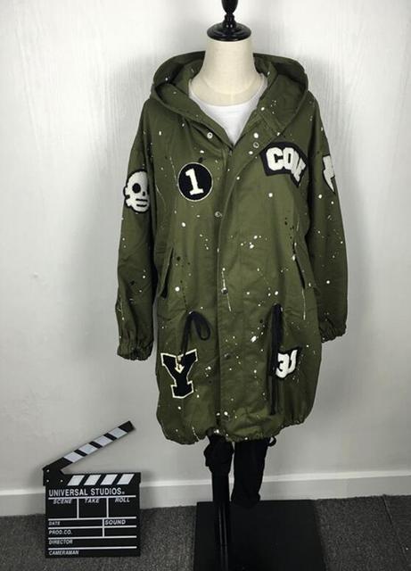 2016 primavera nuevas Chicas Coreanas larga sección de la chaqueta cazadora informal