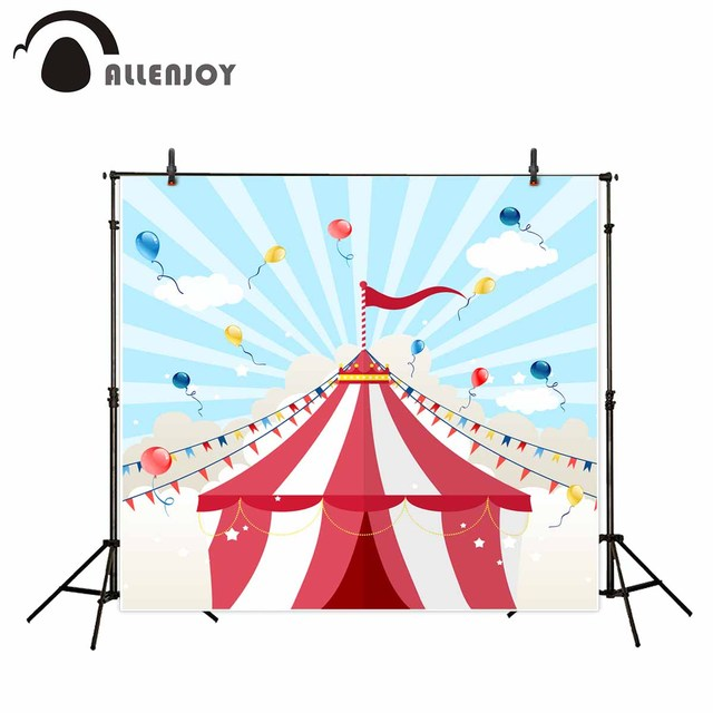 Allenjoy photography background cartoon circus tent colorful balloon flags backdrop photography studio camera fotografica  sc 1 st  AliExpress.com & Allenjoy photography background cartoon circus tent colorful ...