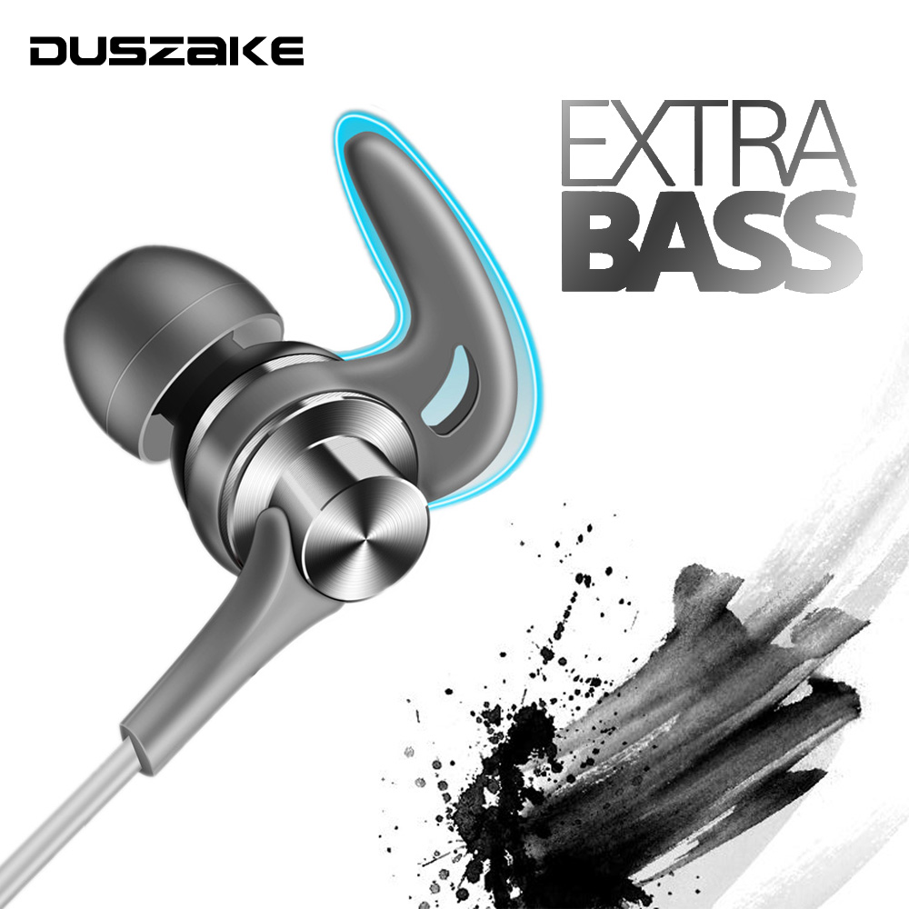 DUSZAKE Q1 Stereo Bass Headphones For Xiaomi Earphone For Phone In-Ear Wired Earphone For Phone Metal Headphones Mic For Samsung