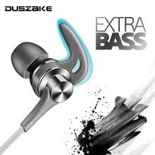 DUSZAKE Q1 스테레오베이스 헤드폰 Xiaomi 이어폰 이어폰 유선 이어폰 메탈 헤드폰 마이크 삼성