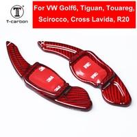 Car Styling Carbon Fiber Steering Wheel Shift Paddle Extension For Volkswagen Golf6 MK6 Tiguan Cross Lavida Scirocco R36 R20