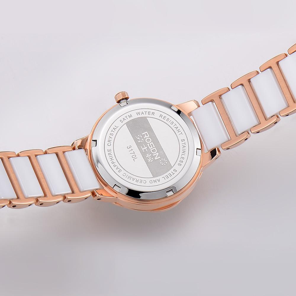 luksusowe zegarki damskie marki ROSDN damski zegarek na rękę - Zegarki damskie - Zdjęcie 4
