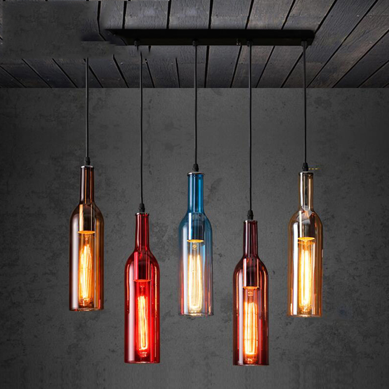 Personalized led bottle pendant lights restaurants bars cafes personalized led bottle pendant lights restaurants bars cafes clothing stores colored beer bottles decorative pendant lamps za in pendant lights from lights aloadofball Image collections
