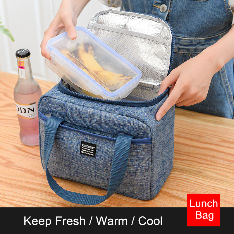 Waterproof Insulated Lunch Bags Oxford Travel Necessary Picnic Pouch Thermal Dinner Box Food Storage Case Accessories Organizer-in Storage Bags from Home & Garden