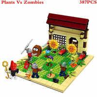 Plantes vs Zombies tournesol frappé jeu blocs de construction jouets pour enfants Brinquedos décool Super héros Star Wars Figures XD59