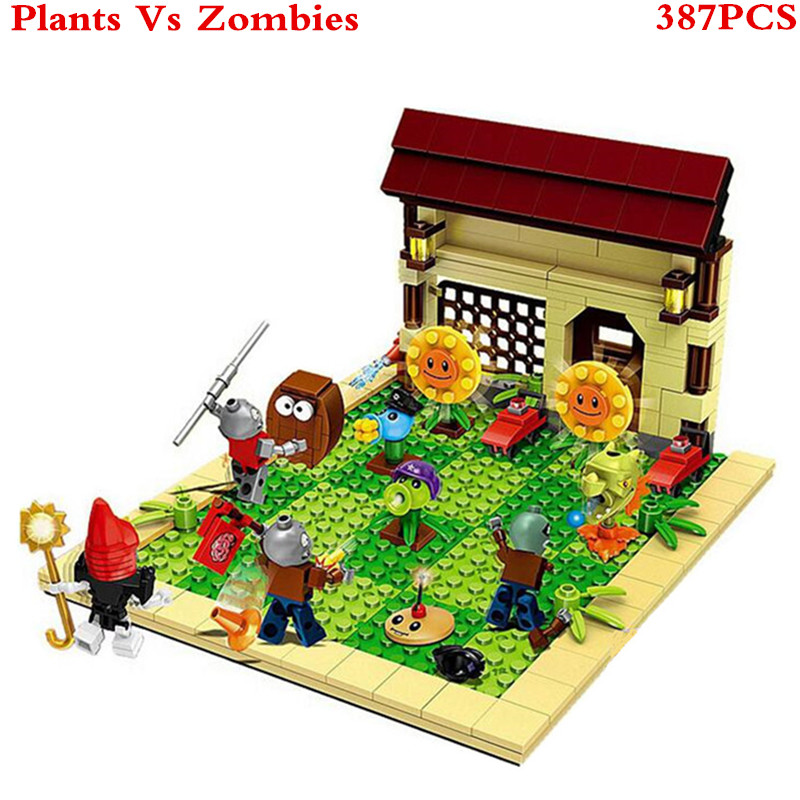 Plants vs Zombies Sunflower Struck Game Building Blocks Toys For Children Brinquedos Decool Super Heros Star Wars Figures XD59 52pcs set plants vs zombies pvz collection figures toy all the plants and zombies figure toys free shipping