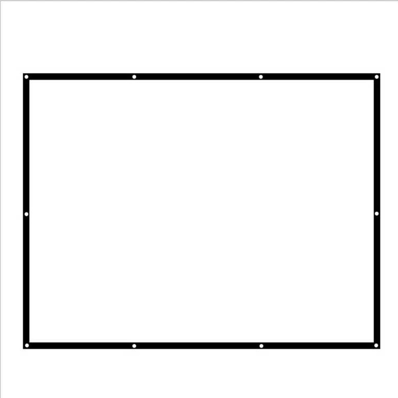 Швидка доставка Тканина проекційний екран 100 дюймів 16: 9 для домашніх кінотеатрів HD Керівні екрани проектора 2.2x1.24 метрів Найкраща ціна