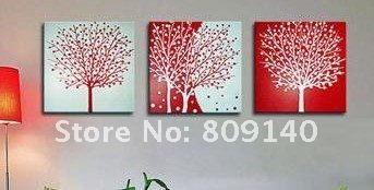 Free Shipping Abstract Tree Oil Painting Canvas Classic