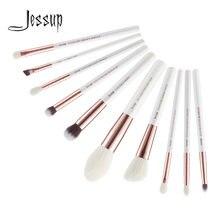 Jessup Кисти 10 шт Профессиональный набор кистей для макияжа