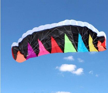 Nouvelle arrivée 3 M COIOURS double ligne cerfs-volants PARAFOIL PARACHUT SPORTS plage cerf-volant facile à voler pour le plaisir des jouets en plein air