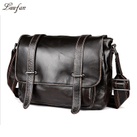 Vintage genuine leather messenger bag Dark brown genuine leather shoulder bag Cow leather school bag for book,ipad