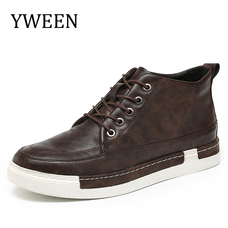 YWEEN 2018 New Arrive Men's Leather Boots Top Quality Ankle Boots For Men Big Size Shoes 140cm real silicone sex dolls robot japanese realistic love doll sexy anime big breast vagina adult full life toys for men doll