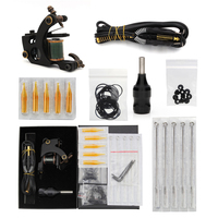Professional High Quality Copper Coil Machine Set Makeup Machine Liner Shader Tattoo Gun With Cartridges Clipcord Grip