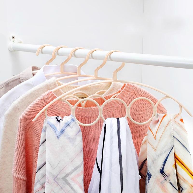 10pcs Ring Hanger for Clothes Tie Belt Stockings Scarf Holder Closet Organizer Pants Plastic Towel Display Hanger Garment Rack