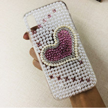 XINGDUO Luxo Amor pérola Bling case capa para iphone 5 XS XR XS MAX 5c 5S 6 7 6 S 8 Plus iphone caso(China)