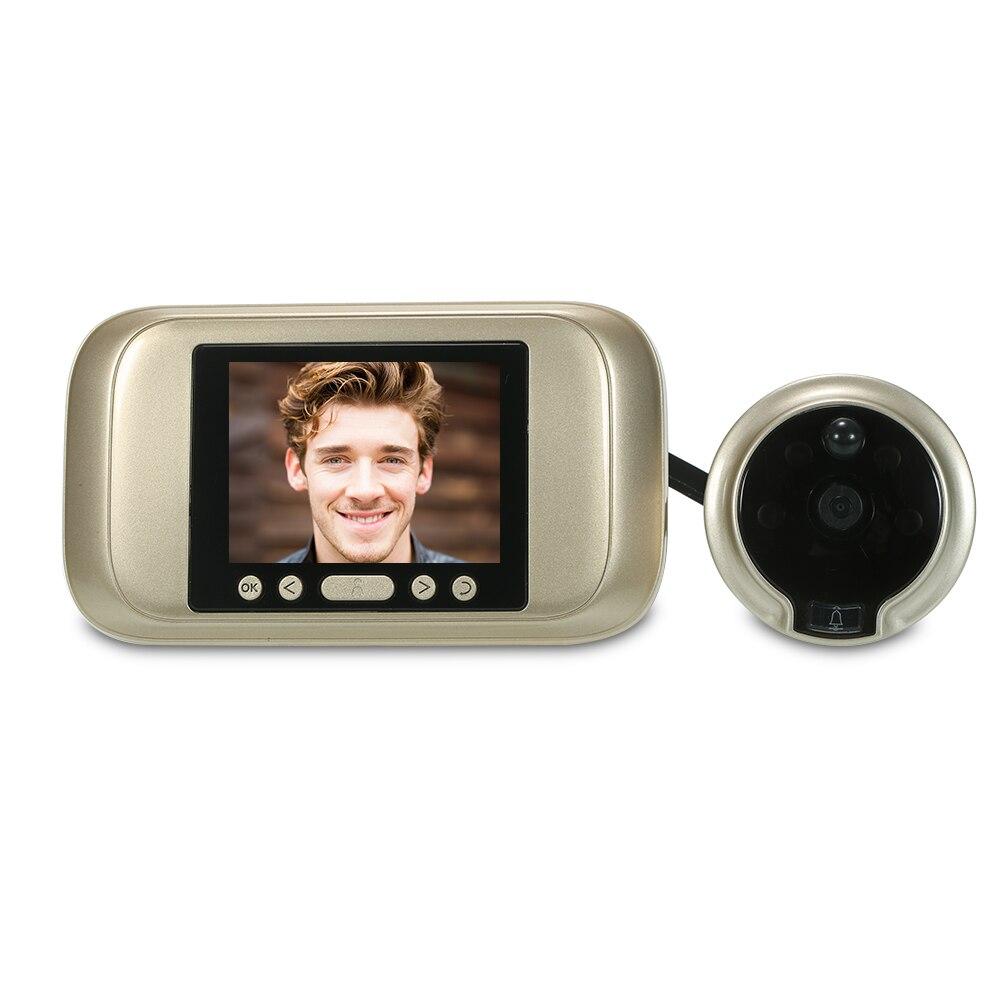 """Умный цифровой дверной глазок 3,"""" TFT lcd монитор дверной глазок дверной звонок HD 1.0MP цветная камера ночного видения для домашней безопасности - Цвет: Gold"""