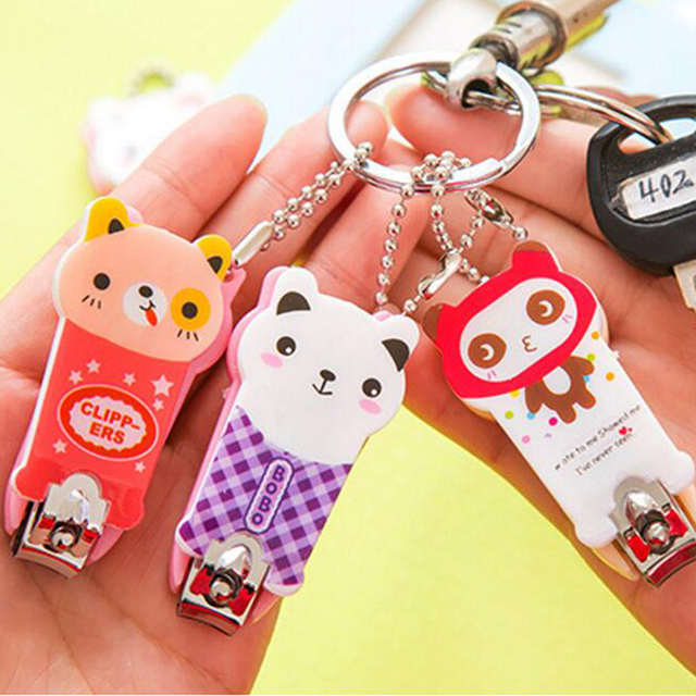 5 Pieces Keychain Keyring Keychains Nail Clippers portable Pedicure ...