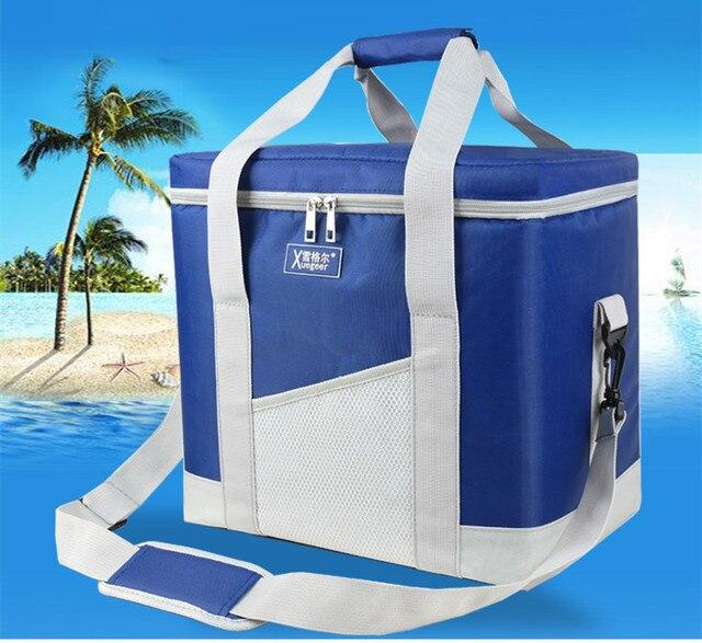 21L большой объем доставка еды тепловой толстый мешок держать еду 8 часов больше пикник-кулер orgnazier