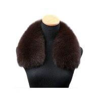 Harppihop*women's clothing collar accessories fashion fur fox scarves 100% Real fox fur collar square