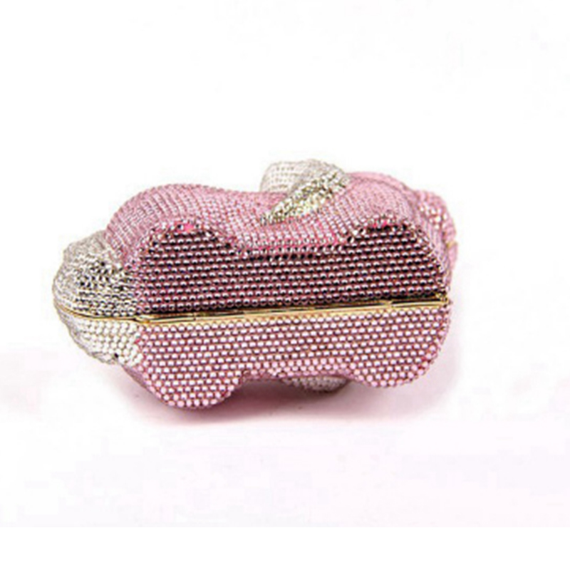 Bandoulière Brun D'embrayage Minaudière Soirée Crystalpurse Pictur Color De Diamant Chien Noce Sac Nuptiale Argent color Or As Rose Messenger Forme Pictur Same qY07wZO