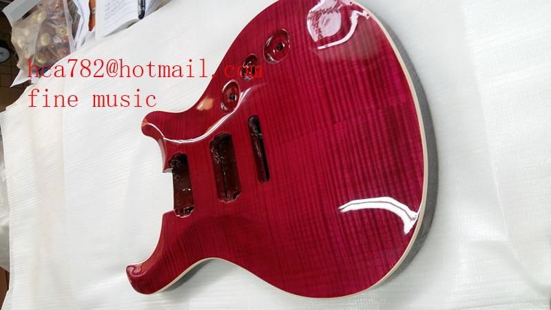 O envio gratuito de new corpo de madeira de mogno corpo da guitarra elétrica em madeira flamed maple para 5 cm sem pintura F-2034