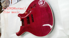 free shipping new mahogany wood body electric guitar body in flamed maple wood for 5cm without paint  F-2034