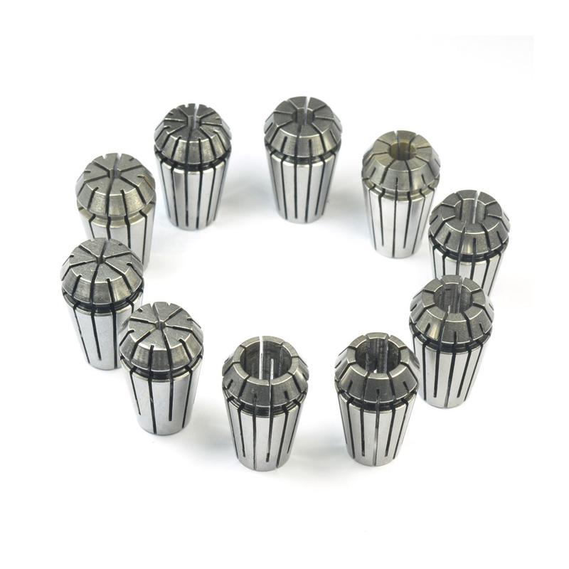 ER16 Precision Collet Chuck Set Spring Collet Chuck For CNC Milling Machine Engraving Lathe Tool  2mm to 10mm 9PCS/lot new 1pc 6mm to 4mm 1 8 inch inner diameter engraving high precision bit cnc router tools adapter for collet super bright sturdy