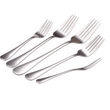 Tableware Serving-Fork Stainless-Steel Cutlery Dessert Buffet Food-Fruit Kitchen Utensil
