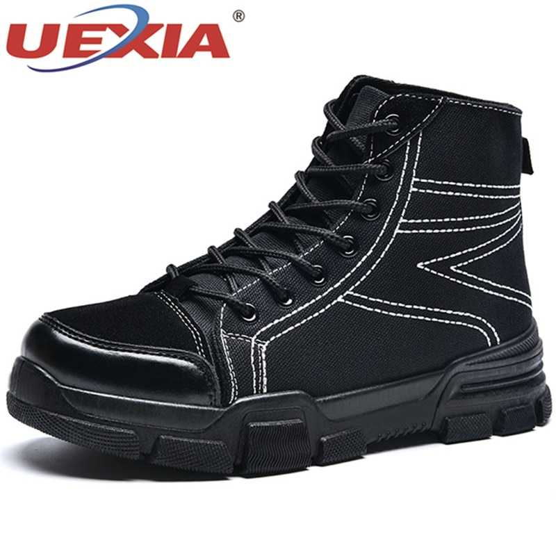 UEXIA 2019 Men Boots Winter With Fur Warm Plush Snow Boots Men Winter Canvas Work Shoes Men Footwear Fashion Rubber Ankle Cotton canvas shoes women casual flats 2017 trendy korean version lace up fashion female spring autumn shoes solid white shoes