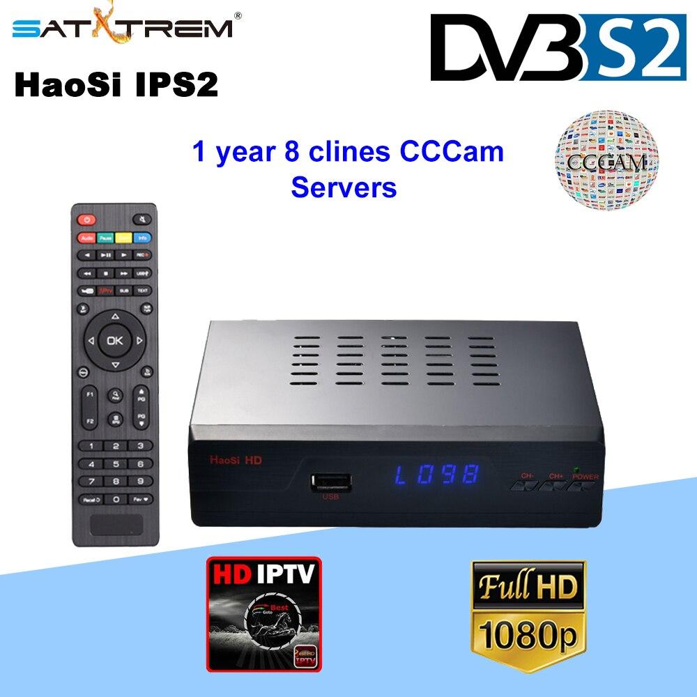 SATXTREM HaoSi IPS2 DVB S2 Digital Full 1080P HD tv Satellite Receiver with 1 year 8