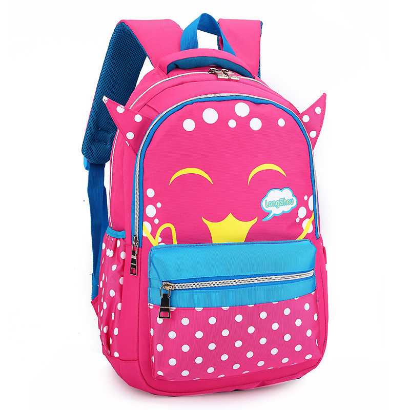 ef533203687e Age 6-12 Children School Bags For Teenager Girls Book bag Nylon waterproof  book bag The bear pattern printing travel backpack