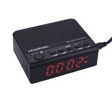 Leadstar Portable Wirelss Alarm Clock Bluetooth Speakers Hands-free Calls LCD Screen FM Radio Support TF Card  MX-19