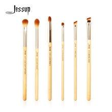 Набор кистей для макияжа из бамбука 6 шт