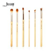 Jessup Brand 6pcs Beauty Bamboo Professional Makeup Brushes Set Make up Brush Tools kit Eye Shader