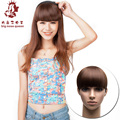 New Women Fashion 5colors Headband Bangs Clip Wig Hairpieces Extensions Synthetic Styling Tools Black Light Dark brown Flax Hair