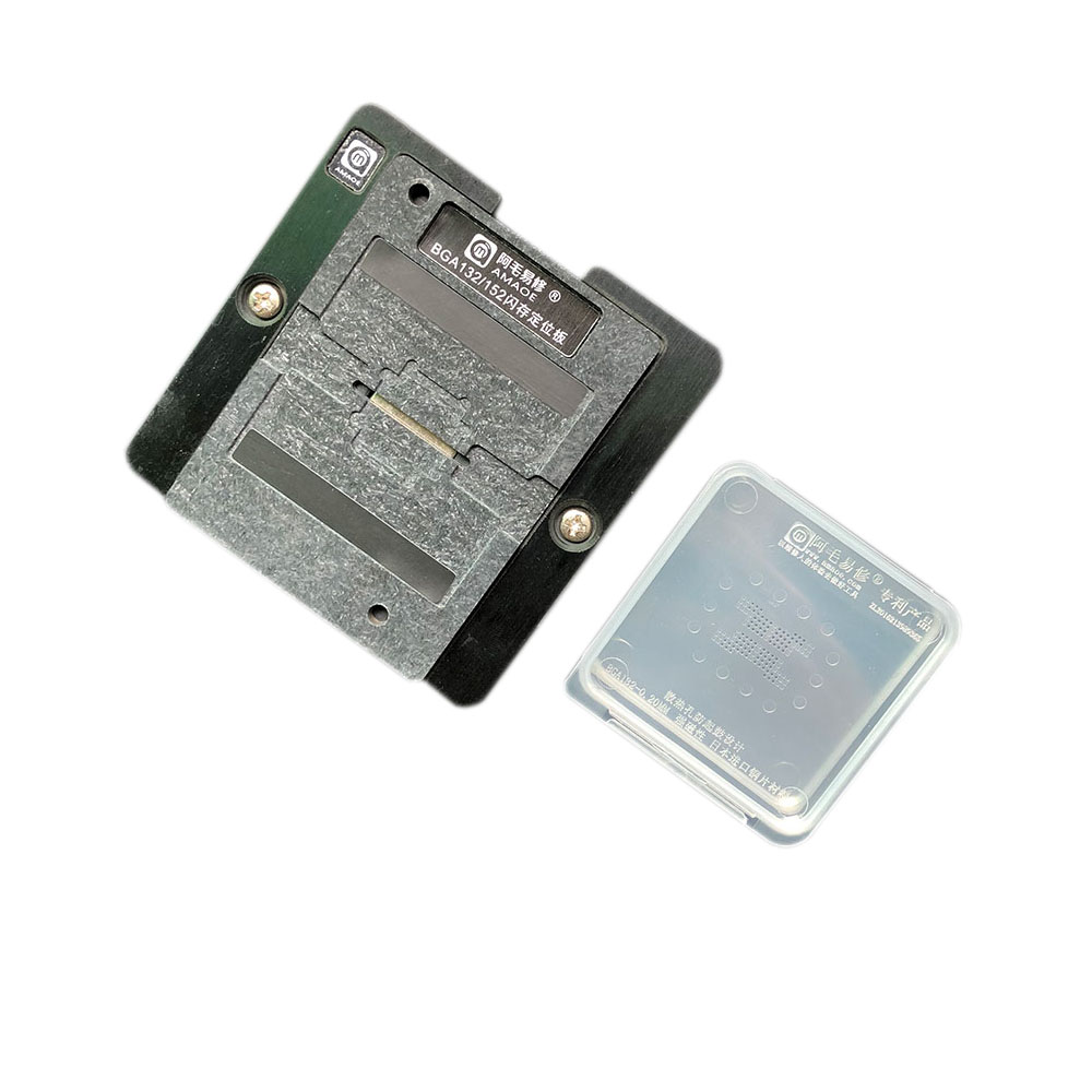 Delicious Amaoe Ssd Magnetic Reballing Station With Bga152 Bga132 Flash Memory Ic Positioning Plate With Strong Megnatic Stencil 0.2mm Skilful Manufacture Tools Hand & Power Tool Accessories