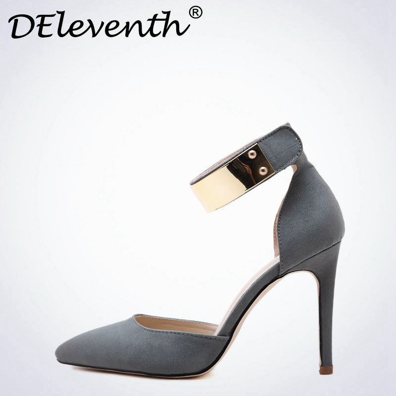 2017 Brand New Fashion Thin High Heels Pointed toe Woman Shoes Sexy Stiletto Heel Pumps Zapatos Mujer Gradient Color Black Gray 2017 new ivory sexy wedding bridal shoes women pointed toe stiletto super high heels chain lace lady pumps zapatos mujer 0640 f5