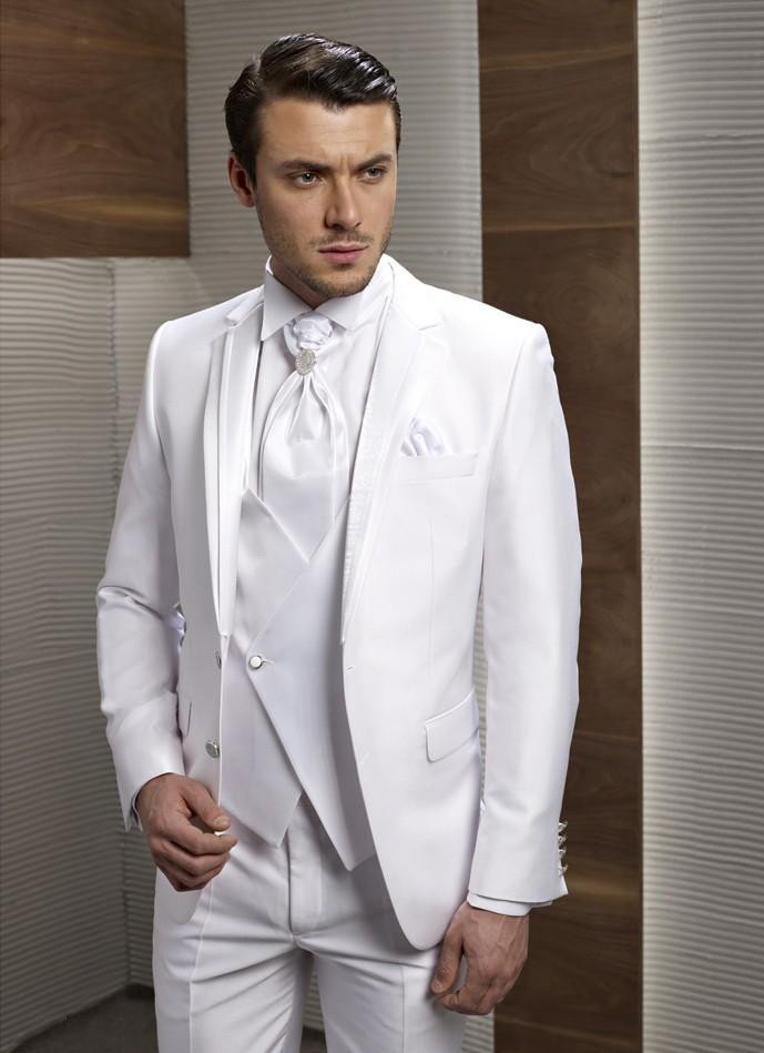 Online Get Cheap White Men Wedding Suits Bridegroom -Aliexpress.com ...