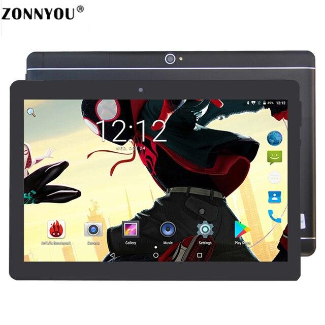 """10.1 """"Tablet PC Octa Lõi Ban Đầu Mạnh Mẽ Android 8.0 GPS Wi-Fi 4 GB RAM 64 GB ROM IPS Dual SIM Điện Thoại Cuộc Gọi Tab Điện Thoại Tablete PC"""