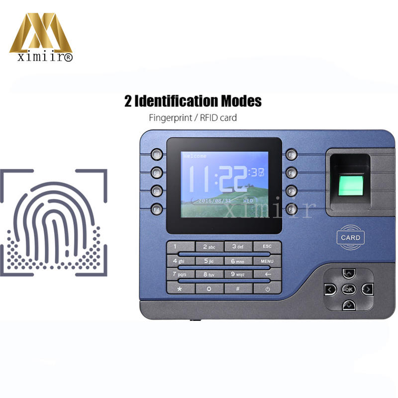 Realand A-C091 TFT Biometric Fingerprint Time Attendance Clock Employee Payroll Recorder 2 Identification