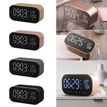 Digital LED Alarm Clock dengan FM Radio Nirkabel Bluetooth Speaker Mendukung Aux TF USB Musik Player Wireless untuk Kantor Kamar Tidur(China)