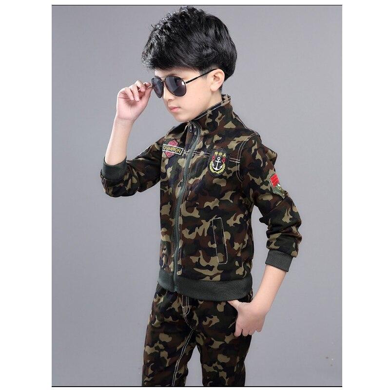 Nouveau printemps automne enfants sport Camouflage costume filles vêtements ensembles garçons manteau + pantalon 2 pièces enfant vêtements ensemble survêtement XL691
