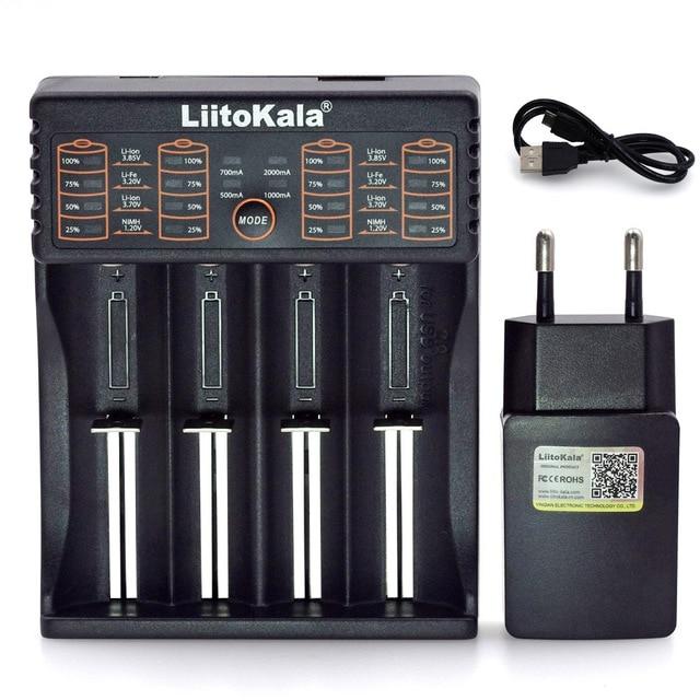 Liitokala Lii402 Lii202 Lii100 LiiS1 18650 Charger 1.2V 3.7V 3.2V AA/AAA 26650 NiMH li-ion battery Smart Charger 5V 2A EU Plug 1