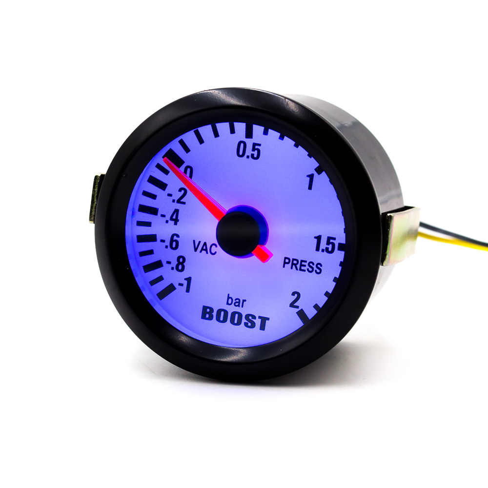 "Cnspeed 2 ""52 Mm Mekanis 12V Mobil Turbo Boost Pengukur-1 ~ 2Bar Hitam Turbo Boost Meter biru LED Auto Mobil Gauge Meter YC100011"