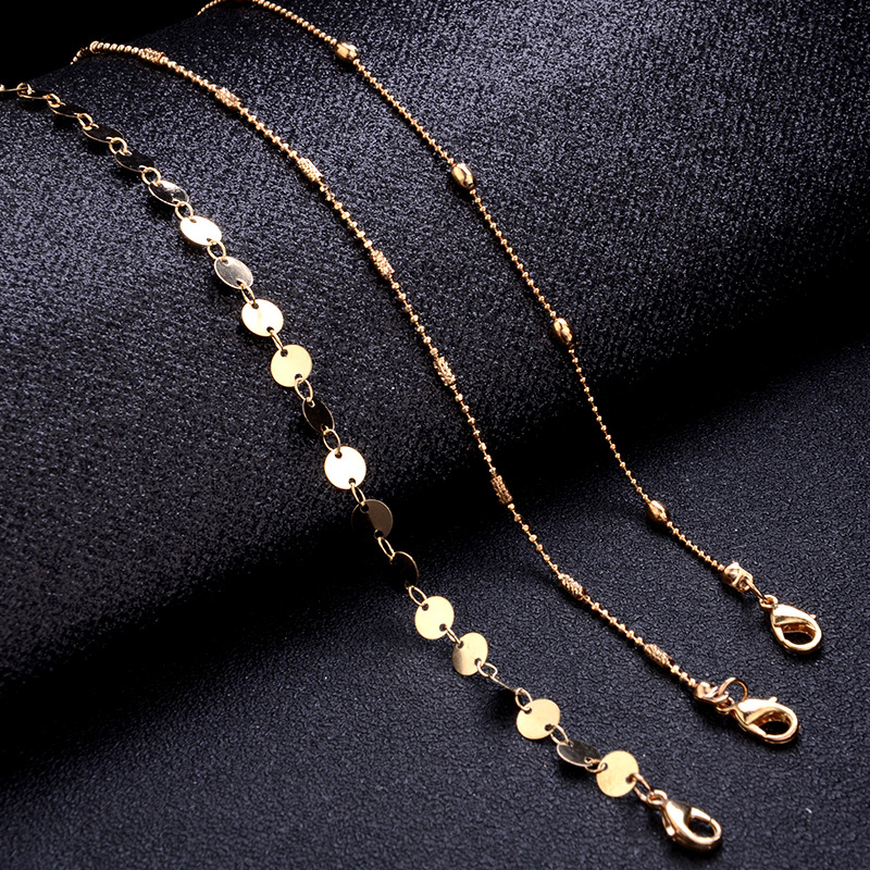 Chain Gifts Adjustable Exquisite Bohemia Beads Bracelet Golden Sequin 3PCS/Set Valentines Gift 19 New Arrival Silver 1