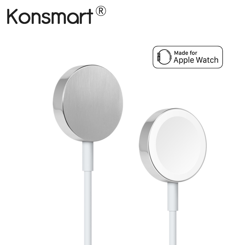 Konsmart 1M Original Magnetic Charging Cable Power Cord for Apple Watch 1 2 3 Fast Wireless Charger Adapter for i-Watch 38 42mm