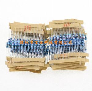 1100 sztuk (0.1 ohm - 10M ohm) 1/2W rezystor z folii metalowej 110 zestaw rezystancji