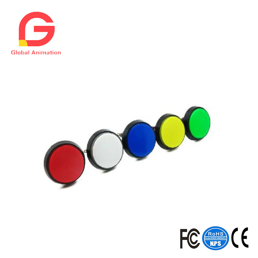 60MM Large Circular Micro Switch Button Switch with Light Green the Reset -Multiple Colour