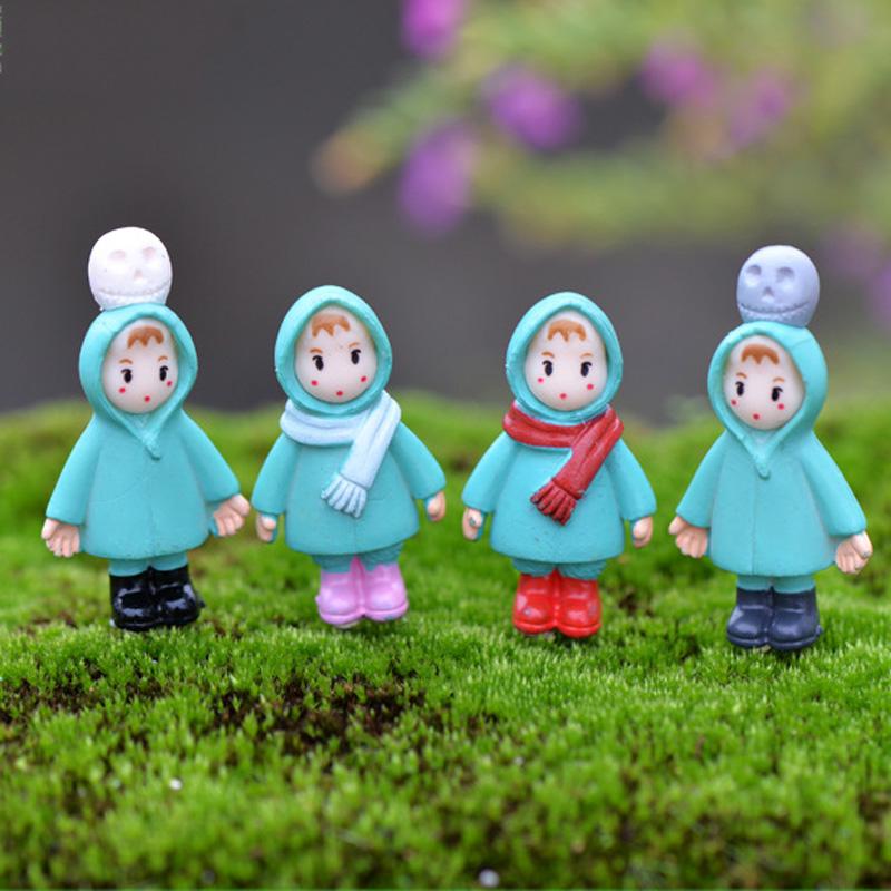 unids invierno xiaomei accesorios de decoracin del hogar de hadas jardn gnomos suculentas terrario