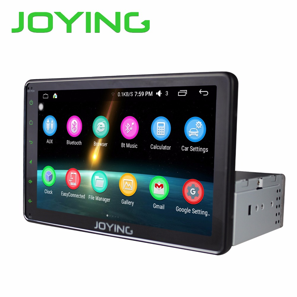 Joying android 6 0 8 full touch screen android single 1 din car stereo auto radio
